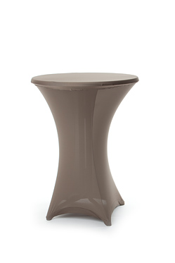 hoes statafel stretch taupe 85 cm