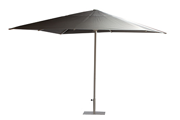 parasol vierkant 3,00 x 3,00 m donkergrijs (voet incl)