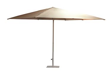 parasol vierkant 3,00 x 3,00 m zandkleur (voet incl)