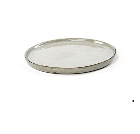Dessertbord groen gestreept 'Artisan' 20 cm, per 10 stuks