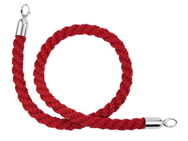 gevlochten rode koord voor afzetpaaltjes