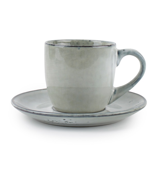 Koffietas en ondertas groen 22cl 'Artisan', per 10 stuks