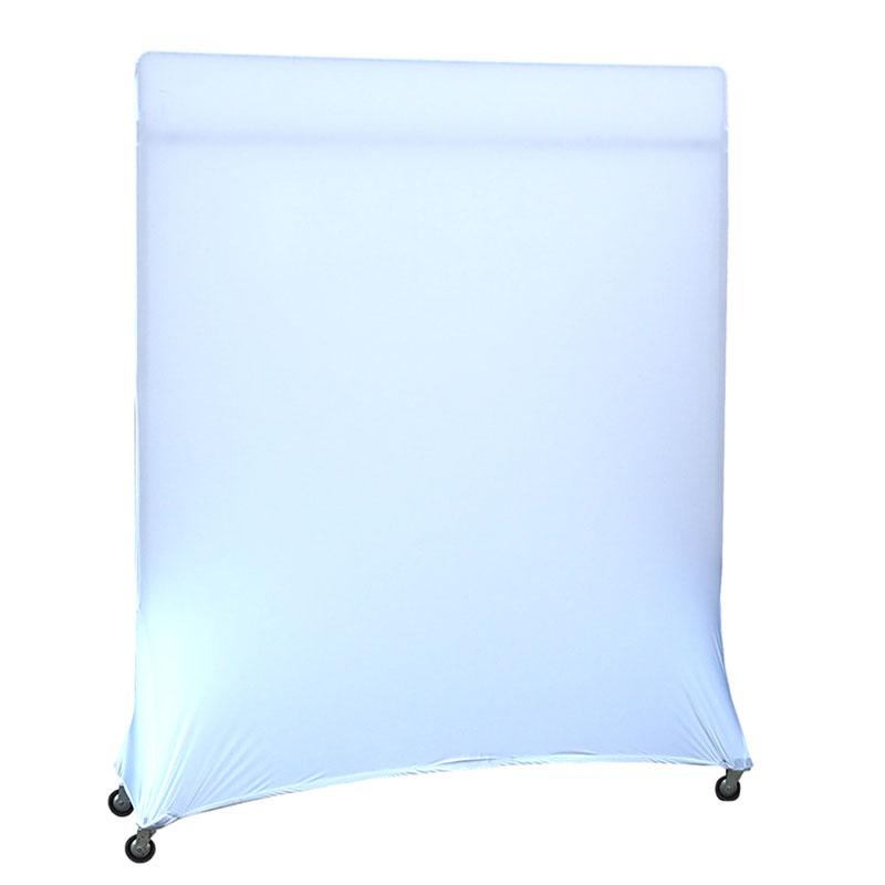 Windscherm op wieltjes met stretchhoes 155 x 175 H