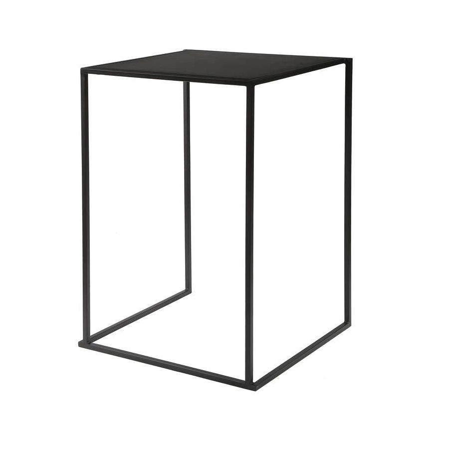 Statafel Kwadro nero, 70 x 70 cm