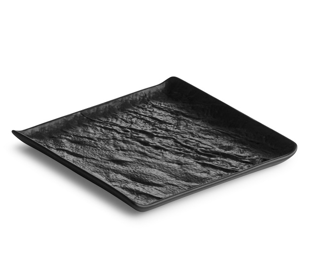 Zwart schaaltje vierkant 15 x 15 cm, per 10 stuks